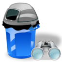 Can, Garbage, Search Icon