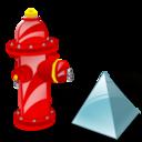 Fire, Level, Plug Icon