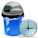 Can, Clock, Garbage Icon