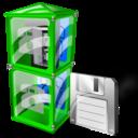 Box, Save, Telephone Icon