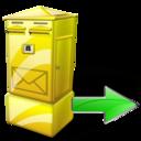 Box, Letter, Next Icon