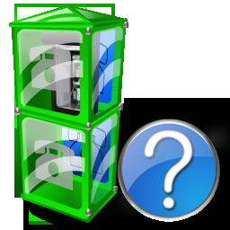 Box, Help, Telephone Icon