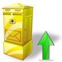 Box, Letter, Up Icon