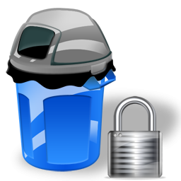 Can, Garbage, Lock Icon