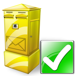 Box, Letter, Ok Icon