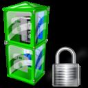 Box, Lock, Telephone Icon