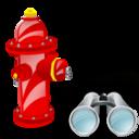 Fire, Plug, Search Icon