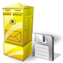Box, Letter, Save Icon