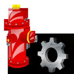 Config, Fire, Plug Icon