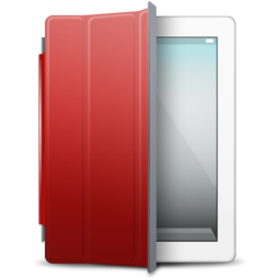 Cover, Ipad, Red, White Icon