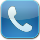 Blue, Glow, Phone Icon