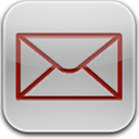 Glow, Mail, Red Icon