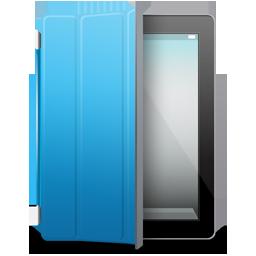 Black, Blue, Cover, Ipad Icon