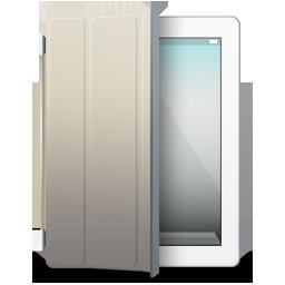 Beige, Cover, Ipad, White Icon