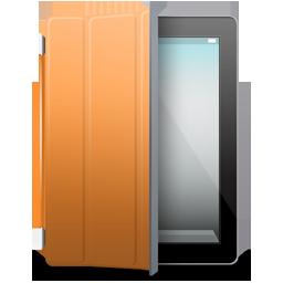 Black, Cover, Ipad, Orange Icon