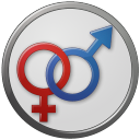Circled, Female, Male, Sex Icon
