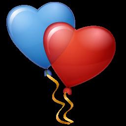 Balloons, Hearts Icon