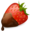 Chocolate, Strawberry Icon