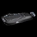 Desktop, Keyboard, Logitech, Wave Icon