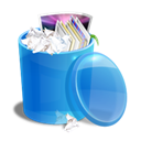 Bin, Blue, Recycle Icon