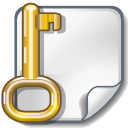 Encrypted, File, Key, Locked Icon