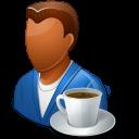 Coffeebreak, Dark, Male, Person Icon