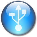 Circle, Lightblue, Symbol, Usb Icon