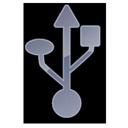 Grey, Symbol, Usb Icon