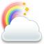 Cloud, Icon, Rainbow Icon