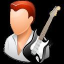 Guitarist, Light, Male Icon