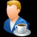 Coffeebreak, Light, Male, Person Icon