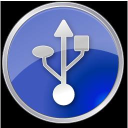 Circle, Darkblue, Symbol, Usb Icon