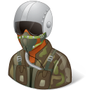Dark, Male, Pilotmilitary Icon
