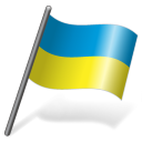 Flag, Ua, Ukr, Ukraine Icon