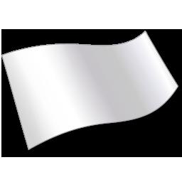 Flag, Solidcolor, White Icon