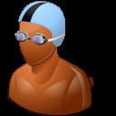 Dark, Male, Swimmer Icon
