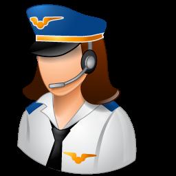 Female, Light, Pilot Icon