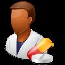 Dark, Male, Pharmacist Icon
