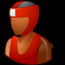 Boxer, Dark, Male Icon