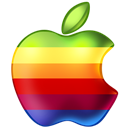 Apple, Rainbow Icon