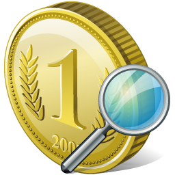 Coin, Search Icon