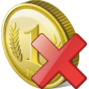 Coin, Delete Icon