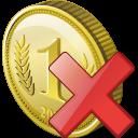 Coin, Delete Icon