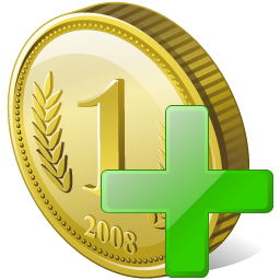 Add Coin Icon Download Free Icons
