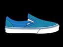 Blue, Glitter, Vans Icon