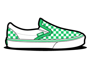 Checkerboard, Green, Vans Icon