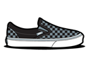 Checkerboard, Grey, Vans Icon