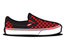 Checkerboard, Red, Vans Icon
