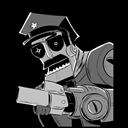 Axe, Cop, Robot Icon
