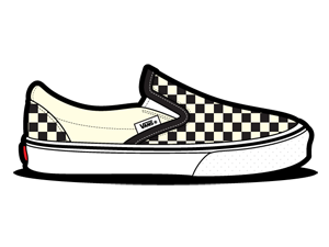 Checkerboard, Dirty, Vans, White Icon
